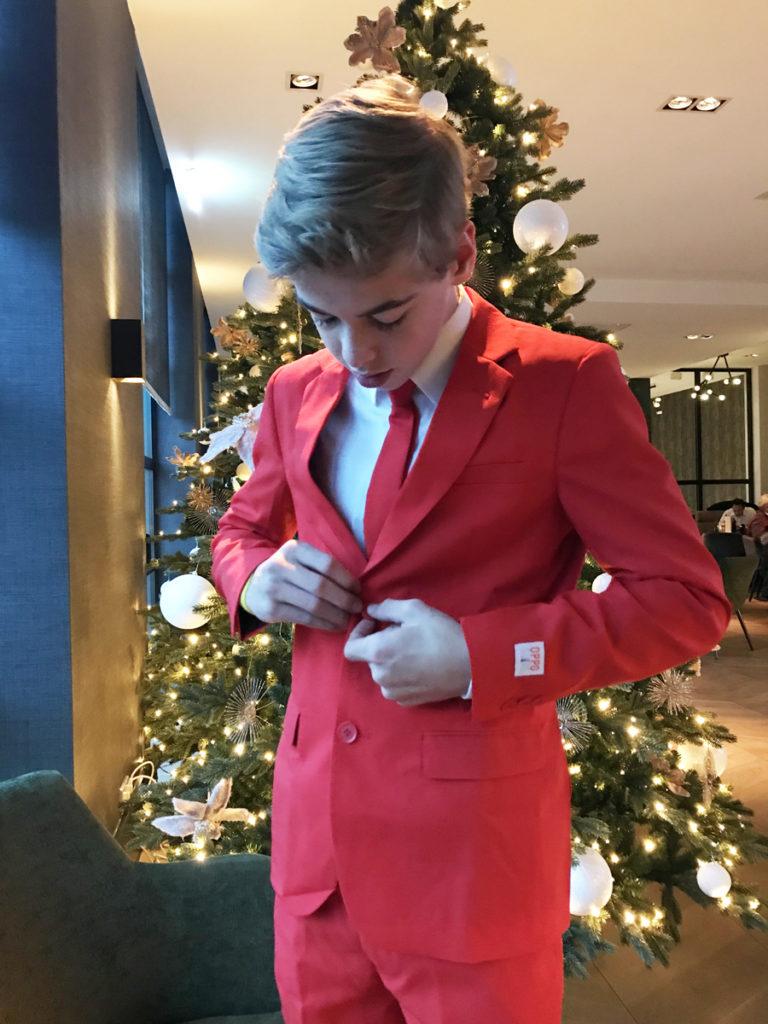 jongens pak, jongens pakken, kerstpak, kerstkostuum, opposuits, red devil, rood kostuum jongen