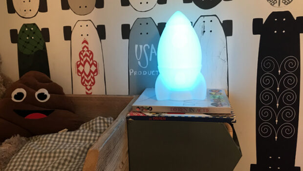 raketlamp, kinderlamp, lichtgevende Bluetooth speakers, Lumin'us, kids BIGBEN