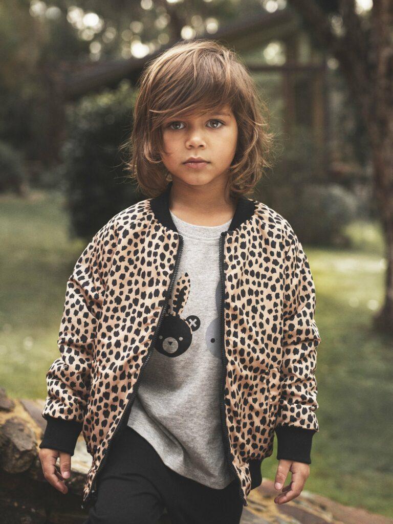 huxbaby, luipaardprint jongenskleding