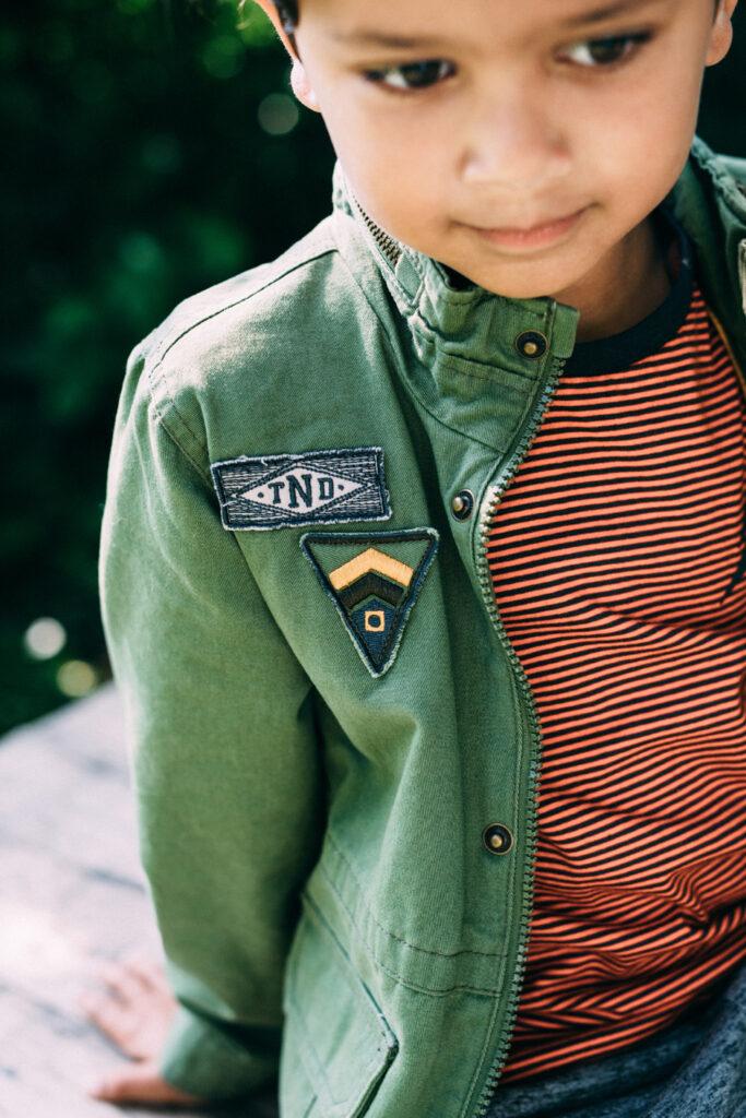 stoer zomerjack, jongensjas, groen army jacket, zomerjassen voor jongens