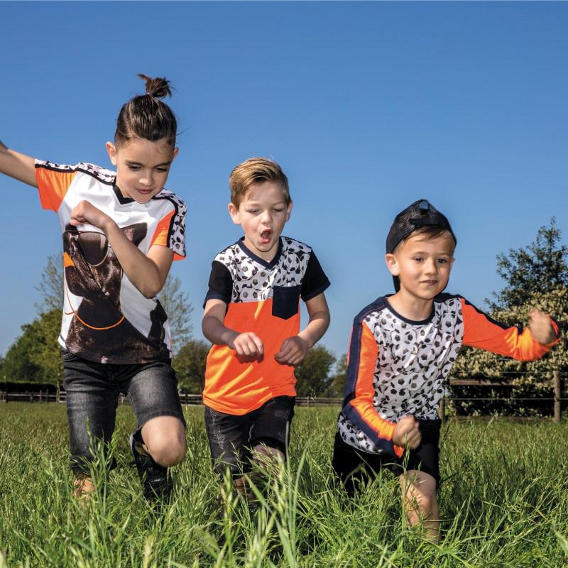voetbal shirt jongen, shirt met voetbalprint, LEGENDS22, jongenskleding