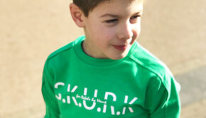 SKURK, groene sweater jongen, groene trui jongen, skurk jongenskleding, skurk 2019