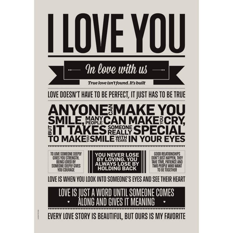 I love you poster, kinderkamer poster, peuter slaapkamer