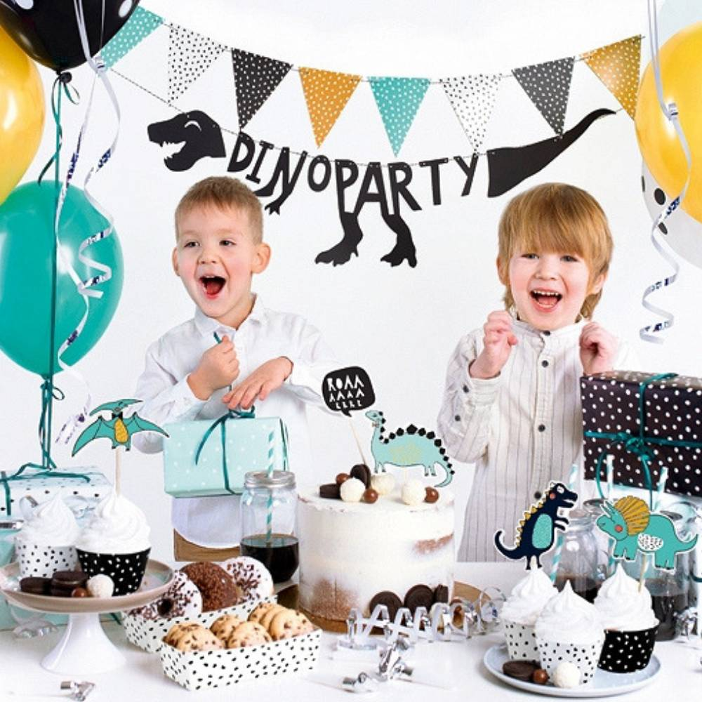 dinofeestje, slingers dino feestje, kinder feestversiering, slingers kinderfeestje, kinderfeestje thema dino, dinosaurus feestje, leuke jongensfeestje , feestversiering