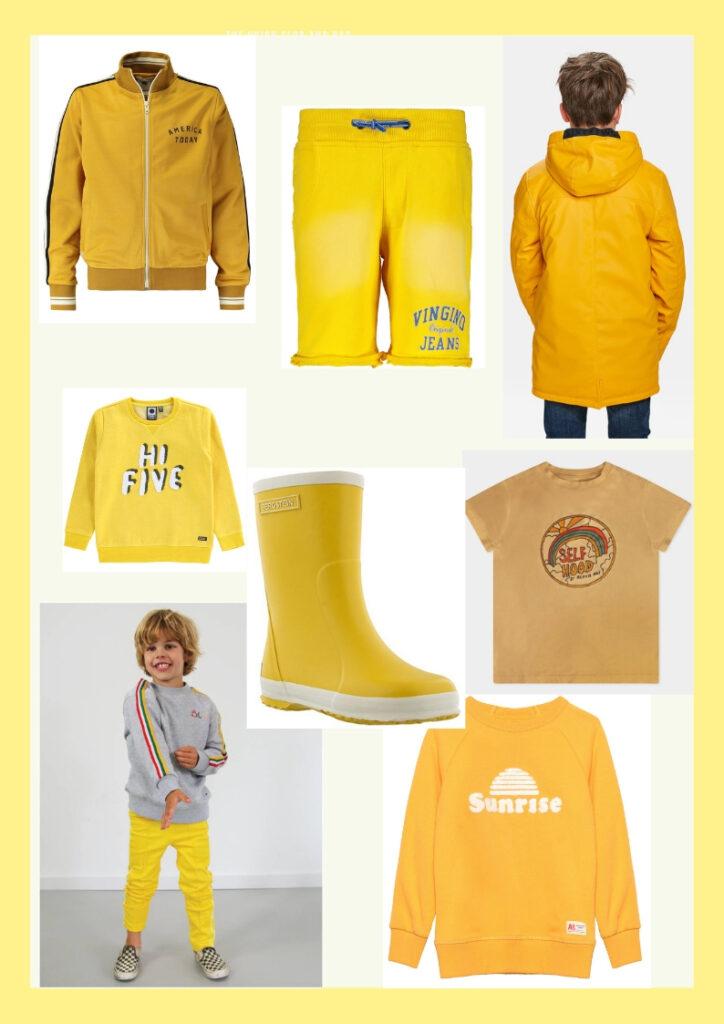 kinderkleding geel, gele kinderkleding, kinderkleding trend, gele jongenskleding, boyslabel, jongensmodeblog