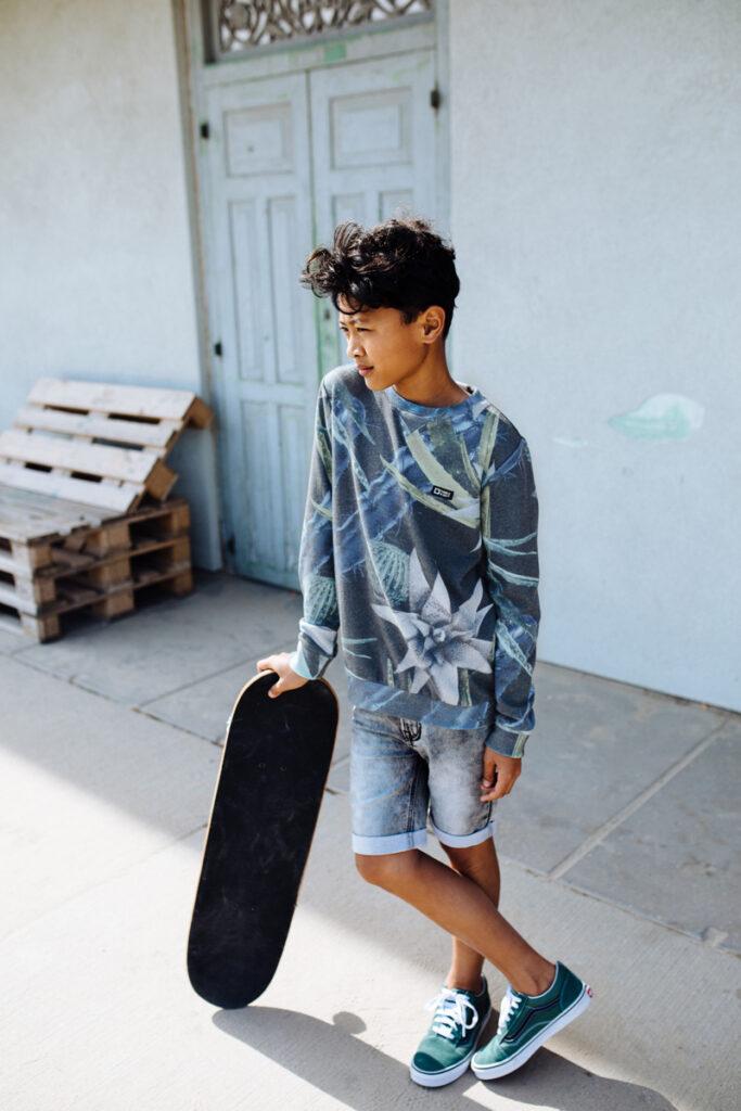 gebloemde sweater jongen