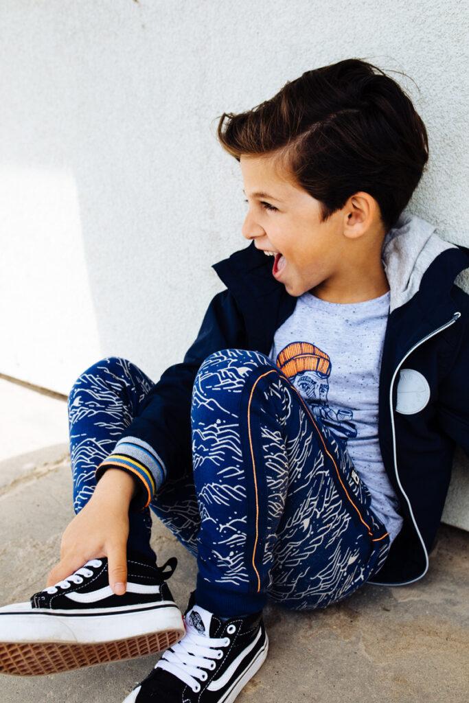 blauwe jongensjas, zomerjas jongen, donkerblauwe jas