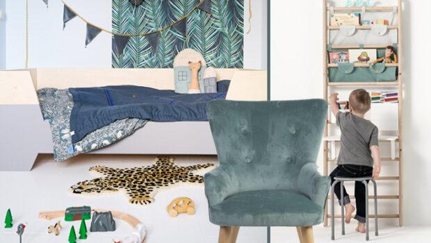 peuter slaapkamer, zeegroene kinderkamer, jongenskamer voorbeeld