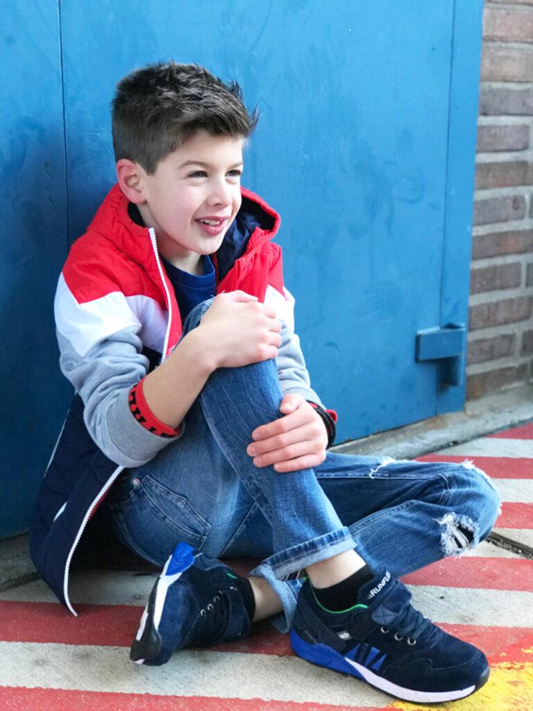 shoesme sneakers, kindersneakers, jongenssneaker, blauwe kindersneaker