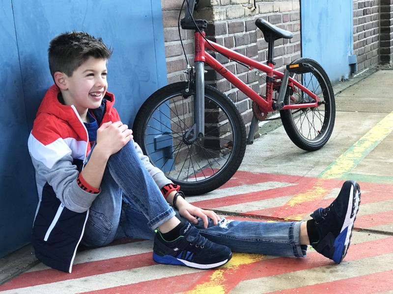 shoesme sneakers, kindersneakers, jongenssneaker, blauwe kindersneaker, stoere jongens sneaker