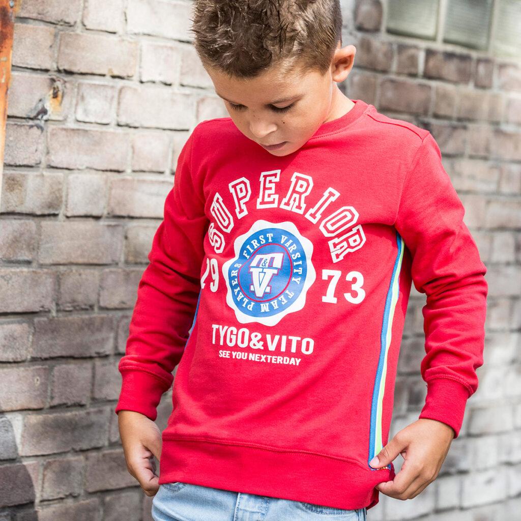 rood wit blauw tshirt, jongens shirt