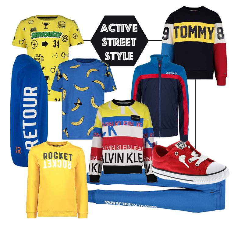 active streetwear, streetstyle boys, jongenskleding, sportieve jongenskleding, voorjaartrends kindermode