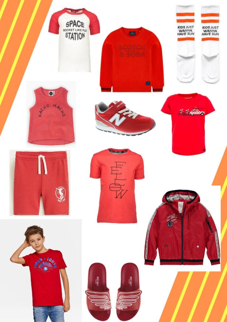boys red clothes, jongenskleding rood, rode kinderkleding, kinderkleding rood, rode jongenskleding, trendblog rood, trendkleur rood
