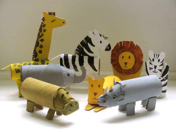 kartonnen dieren knutselen