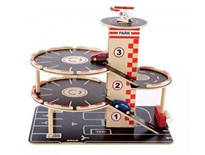 speelgoed garage, houten garage, jongensspeelgoed