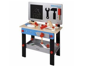 houten werkbank, leuk speelgoed, kinderspeelgoed, houten speelgoed