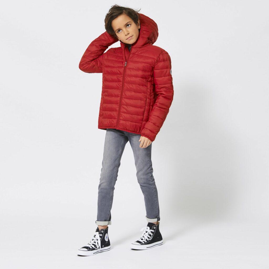 rode jongensjas, rode kinderjas