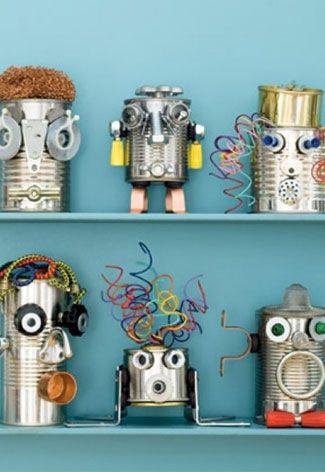 knutselen met je kind, knutsel tips voor kinderen, robots maken
