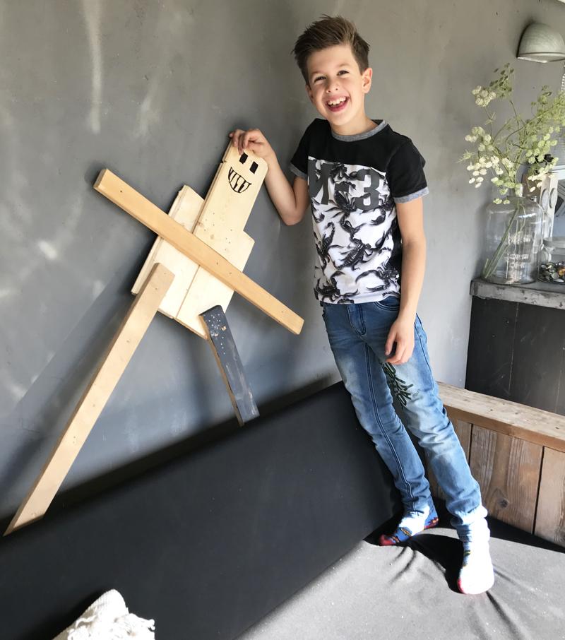 knutselen met je kind, robot knutselen, knutselen met hout