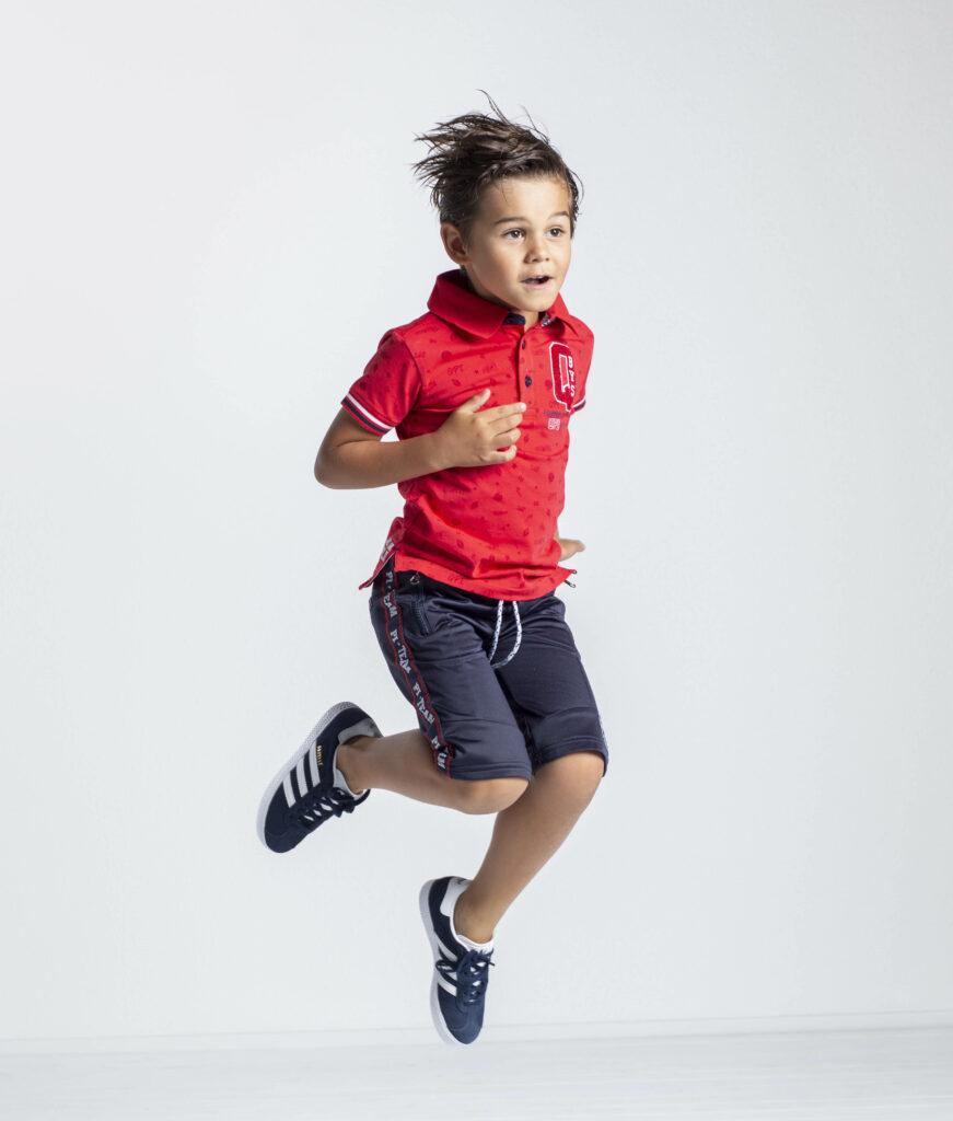 quapi shirt, jongenskleding rood