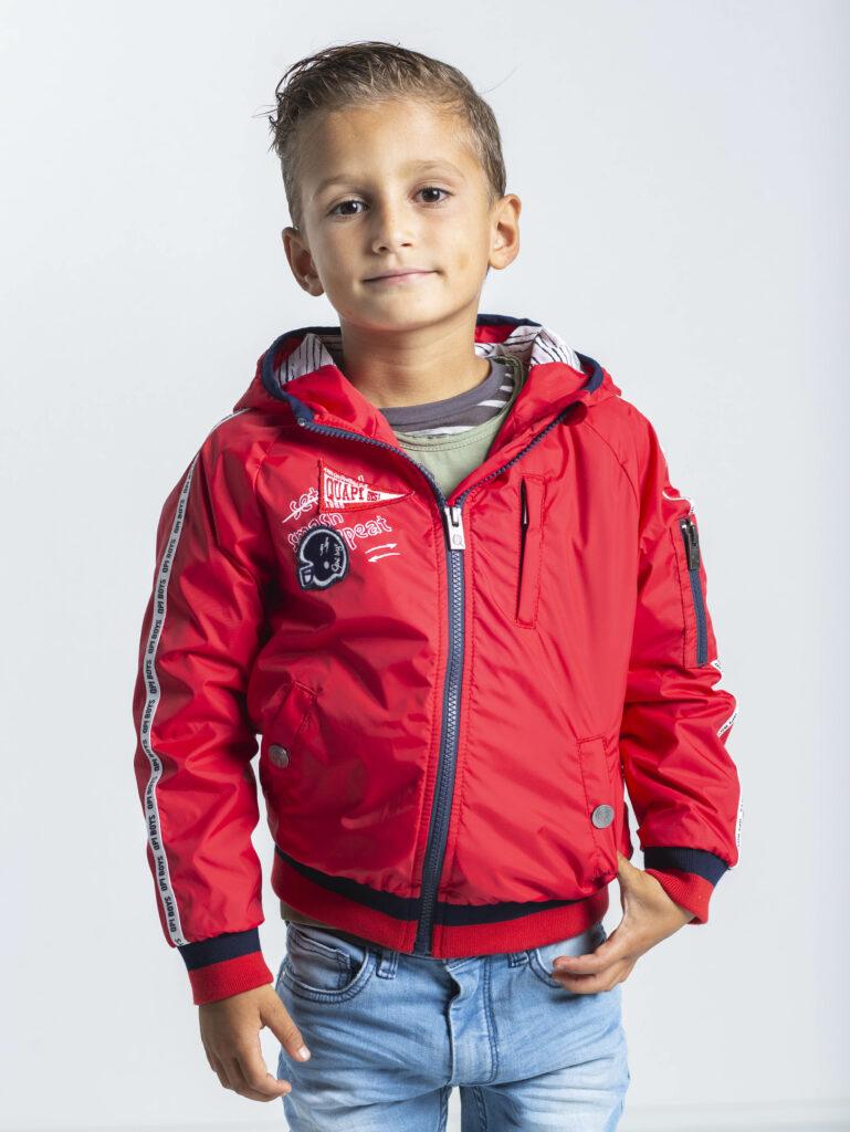 quapi jas, jongenskleding rood