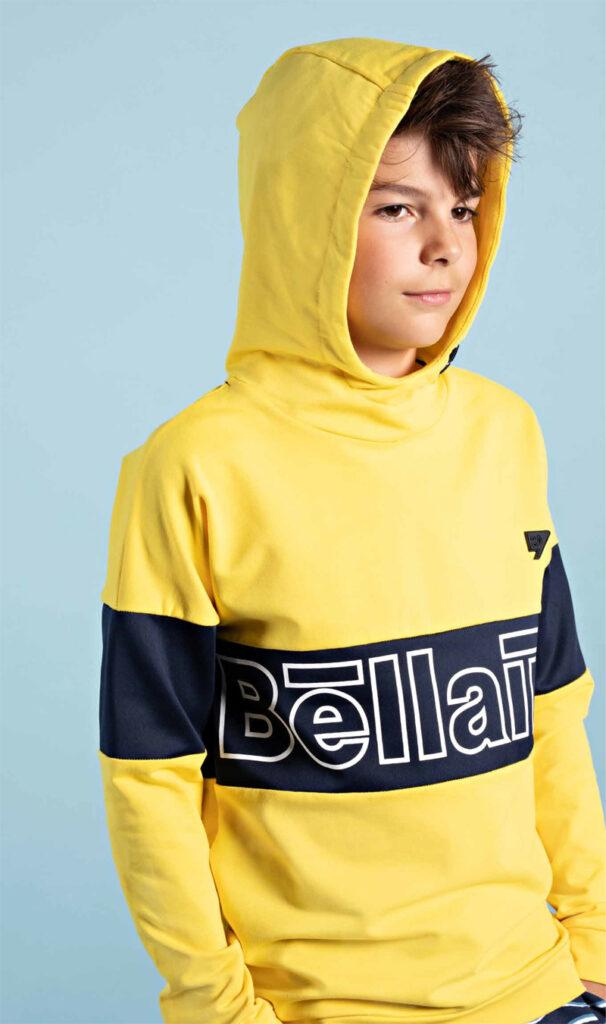 sweaters voor jongens, gele sweater jongen, gele hoodie jongen