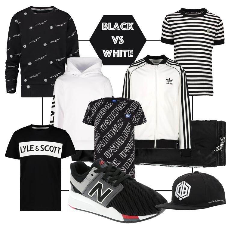 zwart wit kinderkleding, zwart wit jongenskleding, tienerkleding jongen