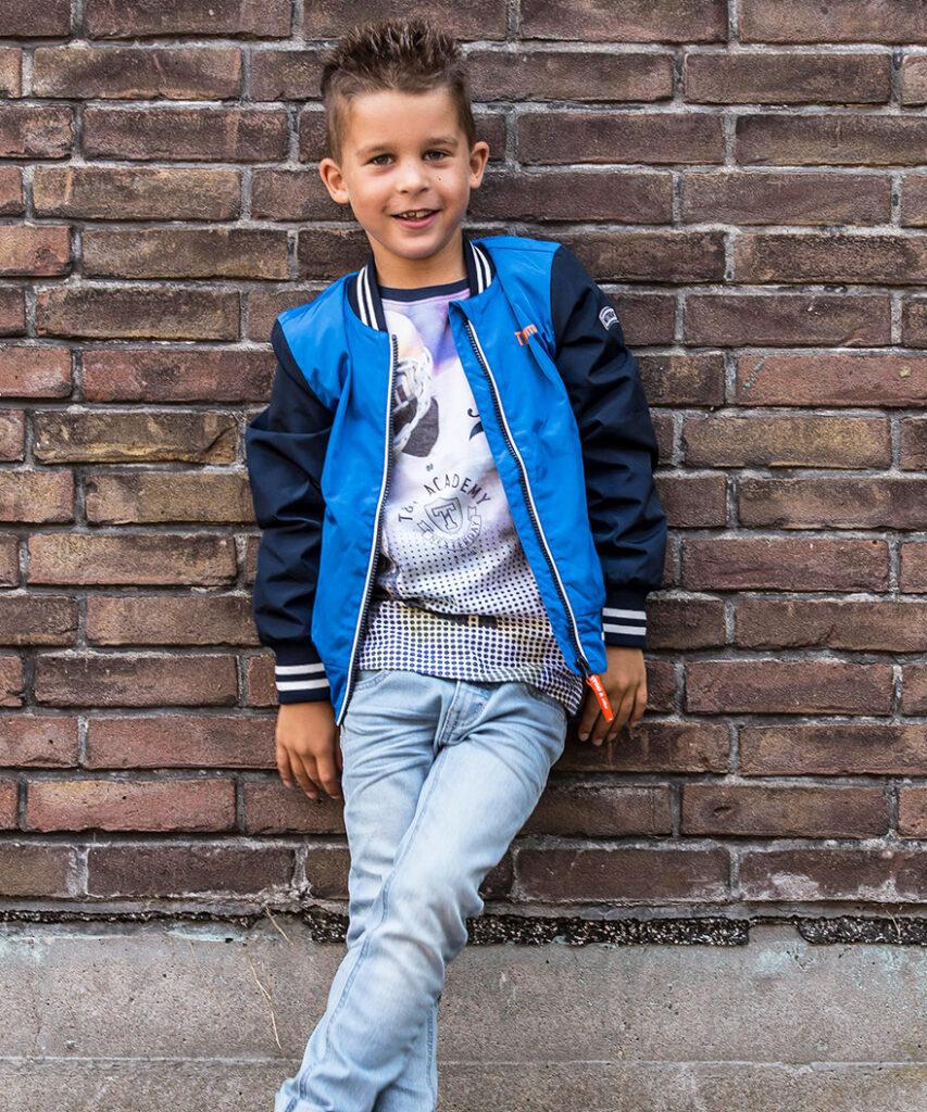 blauwe zomerjas jongen, blauwe jongensjassen, blauwe kinderjas
