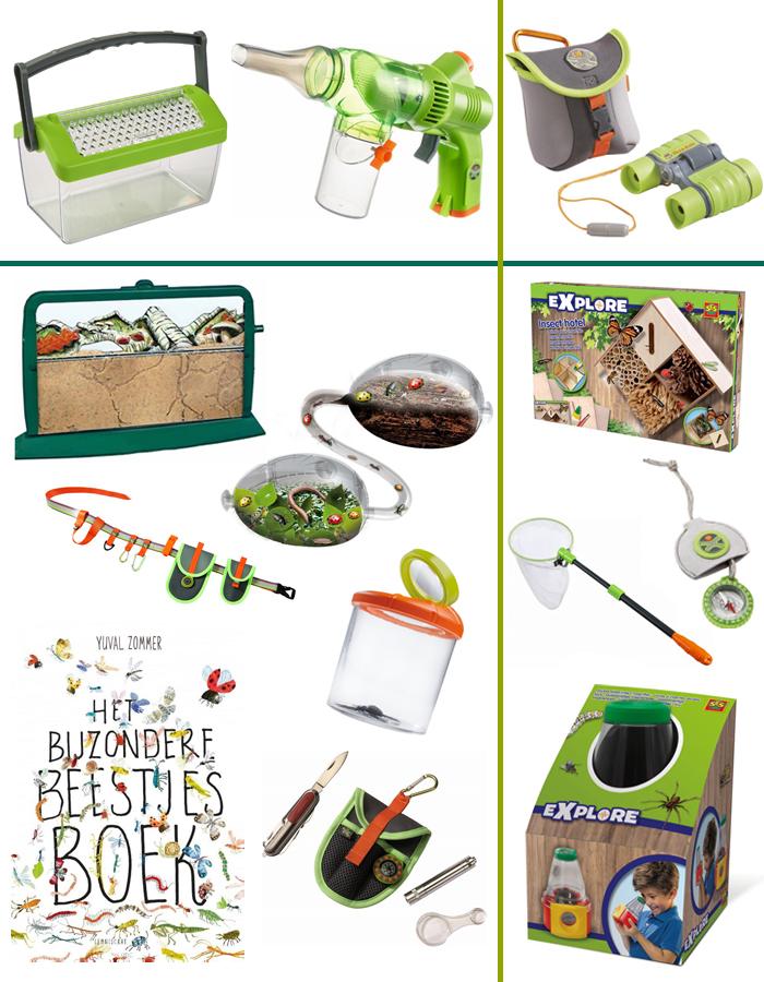 insecten speelgoed, dierenspeelgoed, kriebelbeestjes, diertjes zoeken, insecten zoeken, insectendoosjes, insectenzuiger