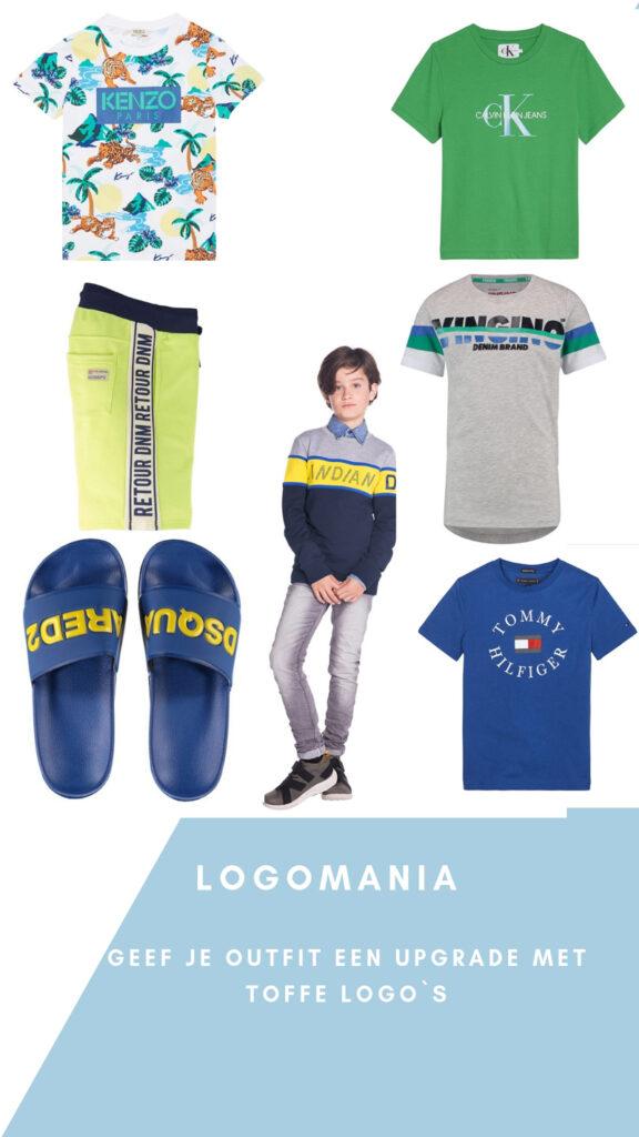 logomania, kinderkleding met logo's, grote logoprints, kleding met logoprints