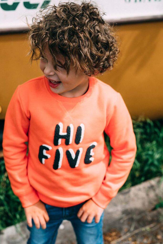 oranje sweater jongens, tumble n dry midseason sale, tumble n dry kinderkleding