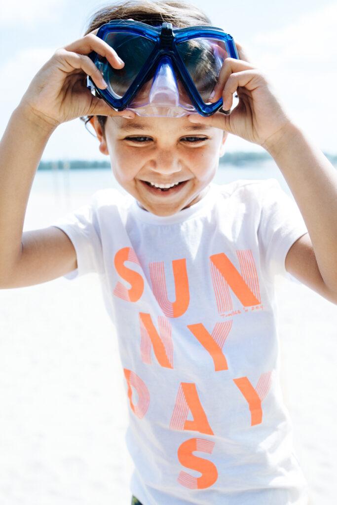 sunny days t-shirt, jongens t-shirt, tumble n dry t-shirt, zomer t-shirt voor jongens