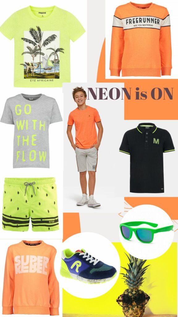 NEON jongenskleding, neon, neon trend, neon kleding, zomerkleding jongens