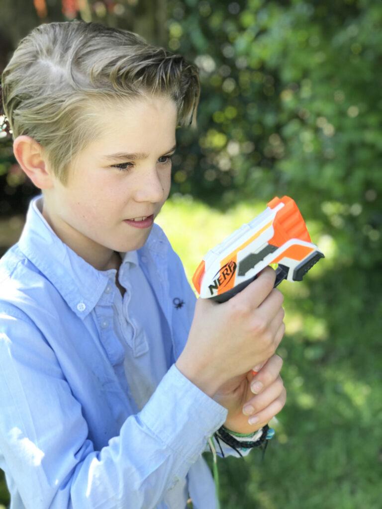 NERF strongarm, nerf pistool, speelgoed pistool
