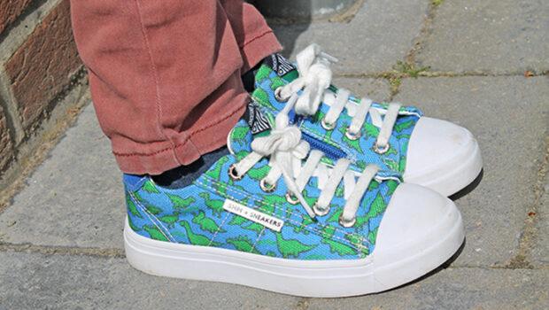 kinderschoenen dino print, dino schoenen