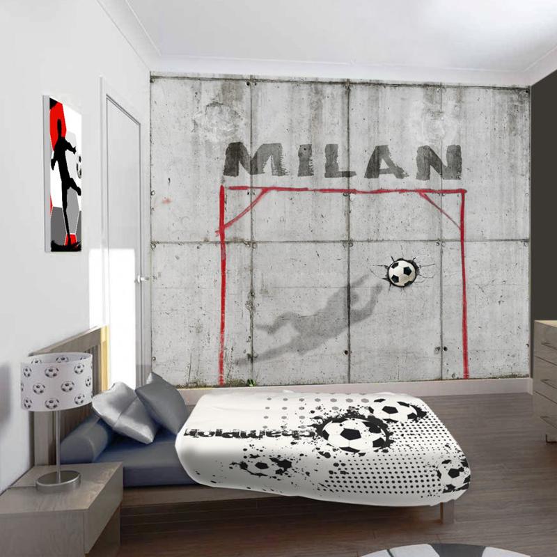 voetbal behang, jongens behang met naam, voetbal kamer ideeen