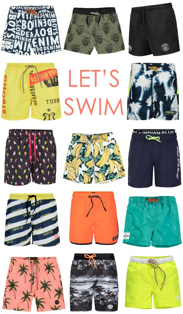 zwemkleding voor jongens, zwemshorts jongen, stoere zwembroek jongen, zwembroeken
