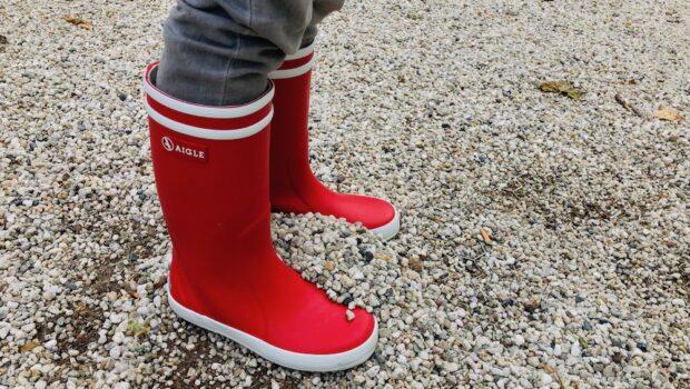 regenlaarzen jongens, rode regenlaarzen, aigle laarzen, kinderlaarsjes