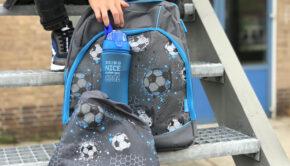 Rugzak met voetbal print, schooltas met voetbalprint, voetbal tas kind