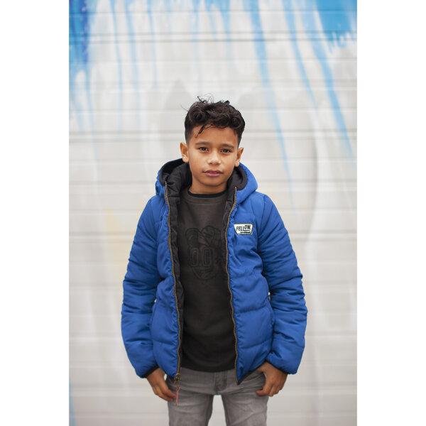 kobalt blauwe winterjas jongen