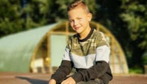 camouflageprint sweater voor jongens, camouflage print trui