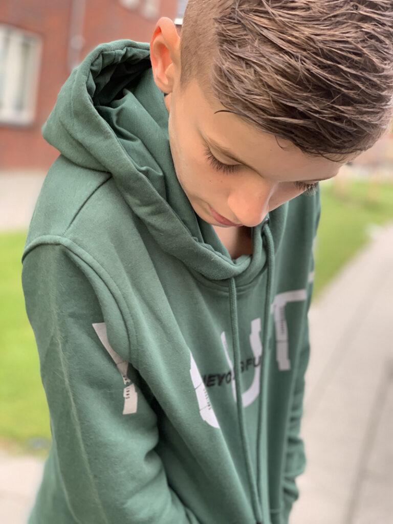 gabbiano, groene sweater jongen