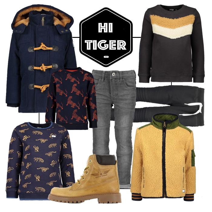 tijgerprint jongens, get the look jongens kleding, like flo boys, like flo jongenskleding