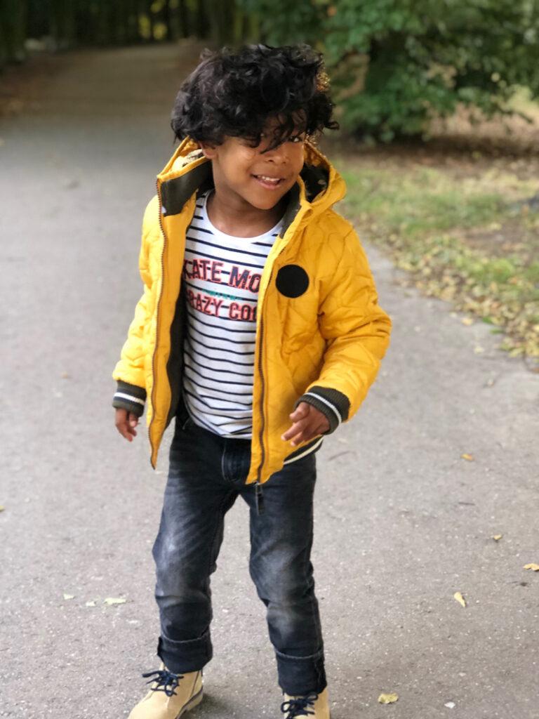 tumble 'n dry, gele jongens jas, boyslabel, kindermode review