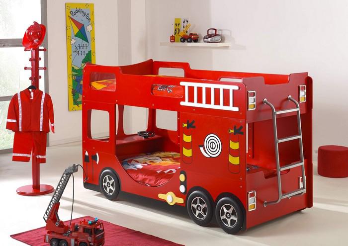 brandweerauto bed, stoer jongensbed