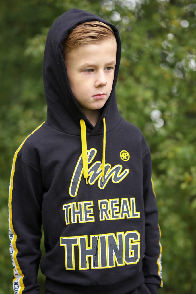 i'am the real thing, 4President, boyslabel, jongens hoodie