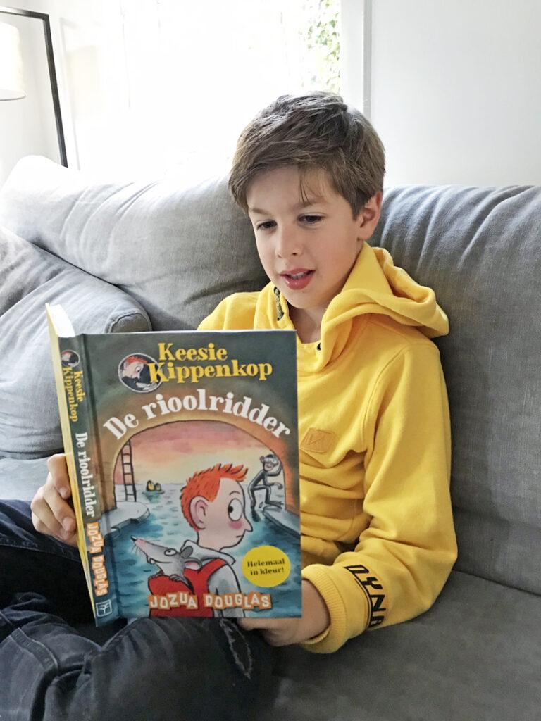 keesie kippenkop en de rioolridder, kinderboeken top 10, boyslabel, kinderboeken