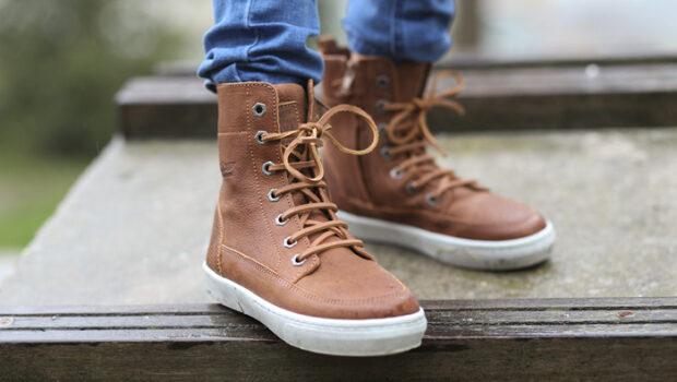 hoge leren sneakers