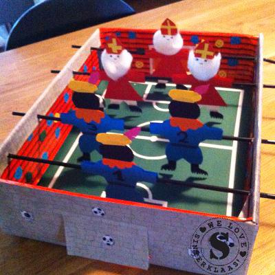 sinterklaas surprise, sinterklaas voetbal tafel