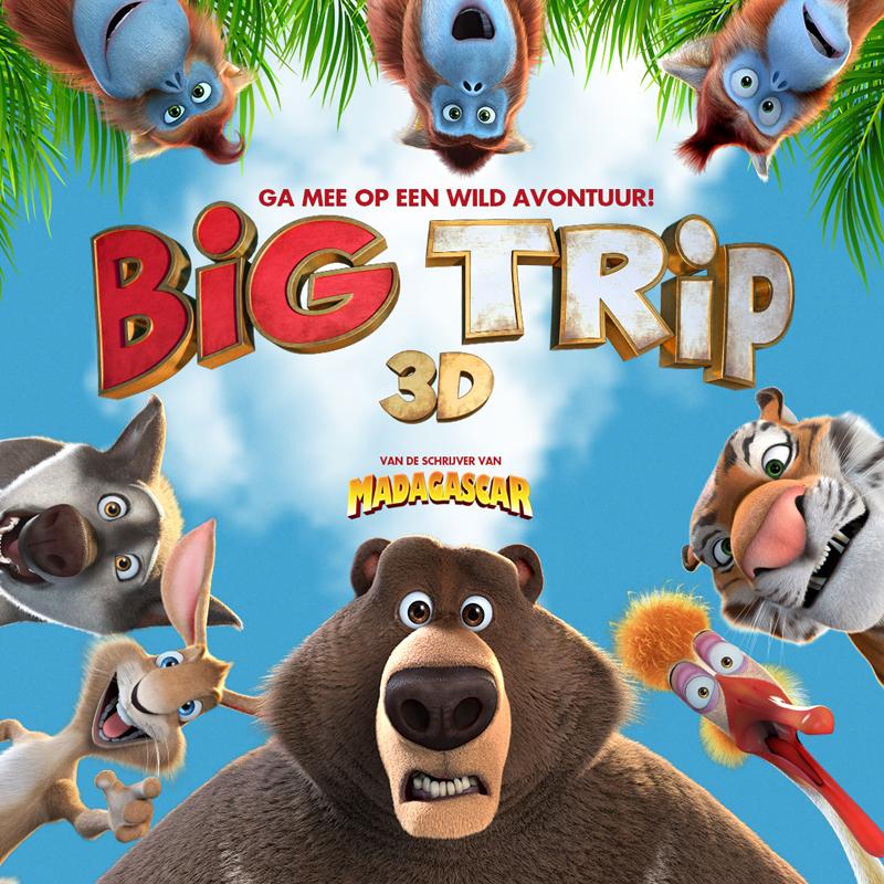 Win bioscoopkaartjes, big trip, bioscoop winactie